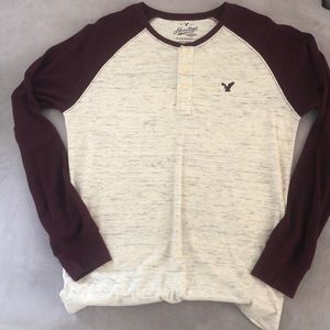 AEO Thermal Long Sleeve Pullover Shirt Size M